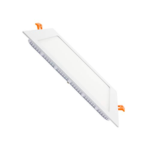 Placa LED Cuadrada SuperSlim 18W Downlight LED Blanco Neutro 4000k-4500K efectoLED