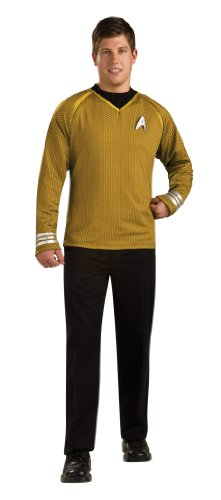 Star Trek Captain Kirk Heritage Kostüm Herrenkostüm Science Fiction Gr. S - XL, (Star Deluxe Erwachsene Für Film Spock Trek Kostüme)