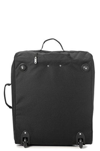 Set of 2 Easyjet & British Airways 56x45x25cm Maximum Cabin Hand Luggage Approved Trolley Bag, Huge 60L Capacity, (Black)