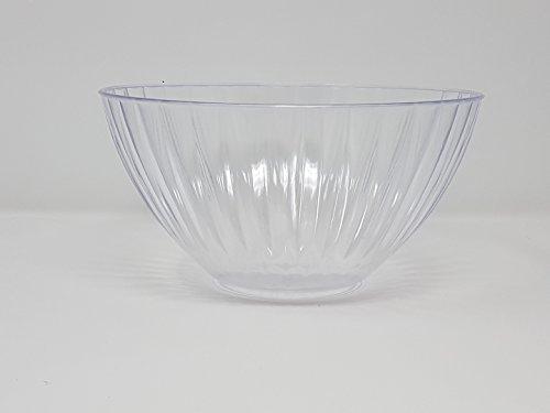Juego de 3 cuencos de plástico para servir cuencos y cuencos - 1,35 litros (48 oz) - transparente