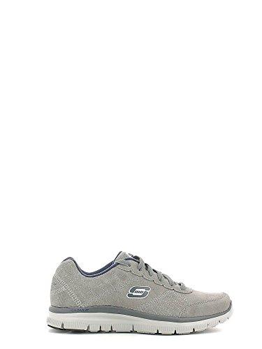 Skechers Charcoal hommes, suède, sneaker low Gris