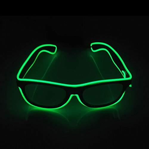 Glaray Encender Gafas LED Novedad Luminosa Gafas Ajustable EL Wire Neo