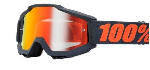 100% Schutzbrille Acurri, für Mountainbiking / Motocross / Skifahren, verspiegelte Gläser Gun Metal (Red Mirror)