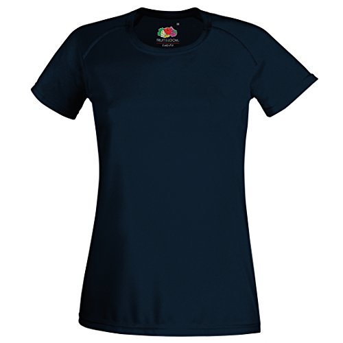 Lady-Fit-Performance-T-Shirt Deep Navy