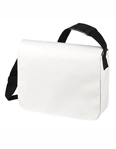 HALFAR® HF6052 Schulter Tasche Style aus LKW Plane Planentasche Umhängetasche , Farbe:WHITE (Bag Weiße Messenger)