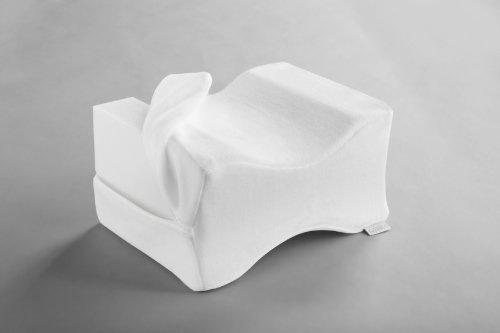 Dormisette Q895 Almohada para las rodillas, para las personas que duermen de lado, transpirable, de 26 x 20 x 16 cm, blanca
