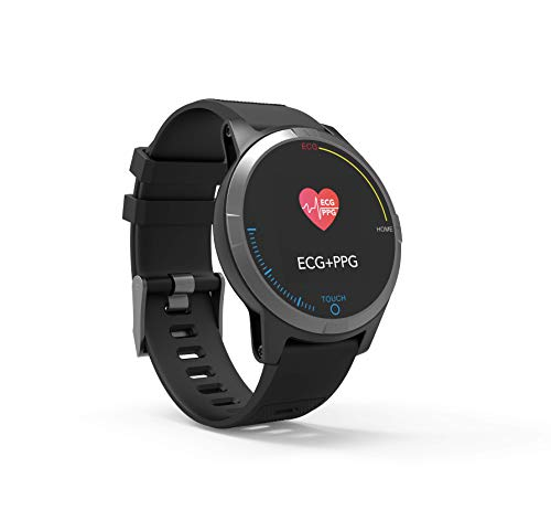 PRIXTON SWB28 Smartwatch Bluetooth 4.0 mit Elektrokardiogramm, Blutdruck, Pulsuhr, Spritzwasserfest