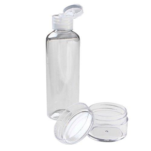 Reise Flaschen Set, Borte Set von 4Flexibler & nachfüllbar Silikon Travel Flaschen Organisatoren Container für Cosmetics Shampoo oder Flüssigkeiten