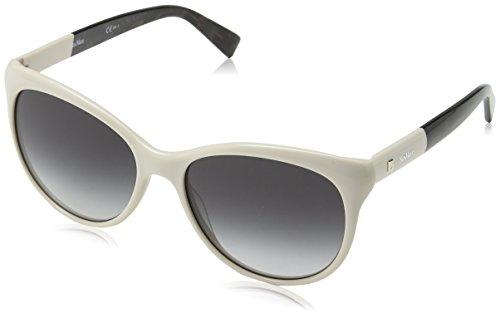 Max mara mm cosy 9o szj 56, occhiali da sole donna, bianco (ivory/brown)