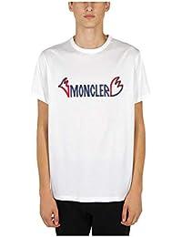 MONCLER Hombre 80252508390Y001 Blanco Algodon T-Shirt