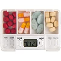 Tragbare Medizin-Kasten-Medizin mit Timer-Erinnerungs-Medizin-Kasten, A3 preisvergleich bei billige-tabletten.eu