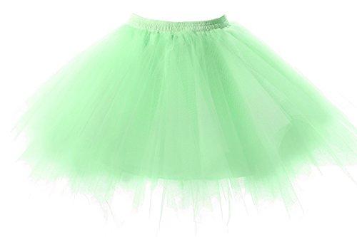 Poplarboy Damen Kurz 50er Vintage Petticoat Mehrfarbengroß Unterröcke Braut Crinoline Ballett Tutu Ball Underskirt (Kinder Disco Outfits)