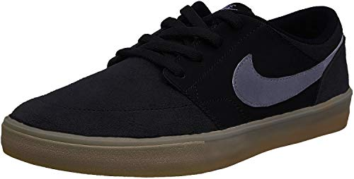 Nike Herren Sb Portmore Ii Solar Skateboardschuhe, Schwarz (Black/Dark Grey/Gum Light Brown 009), 45 EU