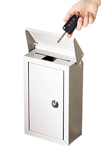 Outdoor Groß Schlüssel Auswahlfeld verzinktem Stahl Wandhalterung pulverbeschichtet Schlüsselanhänger Lock Box von Arbeit Affinity weiß (Für Schlüssel, Wandhalterung Lock-box)