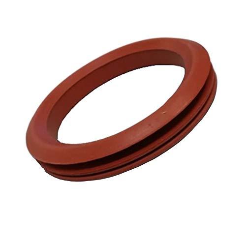 Easyricambi Guarnizione in Silicone Rosso per Scarico fumi per Inserti e Tubi di stufe a Pellet. Diametro Interno 85mm Esterno 110mm (per Palazzetti Ecofire)