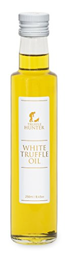 TruffleHunter White Truffle (Tuber Borchii) Oil 250ml - Double Concentrate - Luxury Gourmet Food Seasoning Salad Dressing - Vegan, Vegetarian, Kosher & Gluten Free