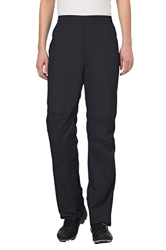 VAUDE Damen Drop Pants II Regenhose für Radsport Hose, wasserdicht , Schwarz , 42/L (Normal )
