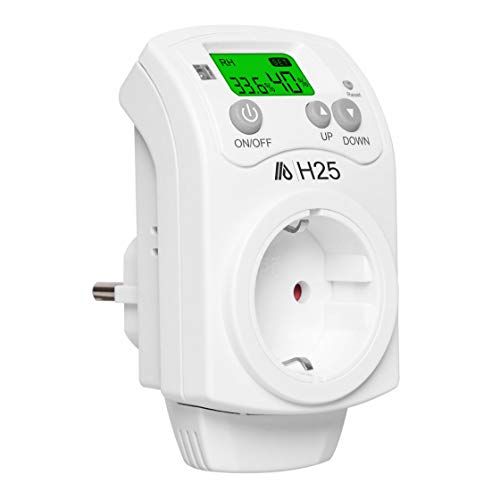 Hygrostat Stecksdose Steckdosenhygrostat Feuchteregler Hygrometer Controller Temperaturregler Luftentfeuchter Luftbefeuchter (H25)