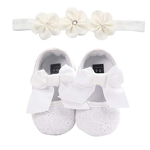 Vovotrade Baby Mädchen Baumwolle Anti-Rutsch Weiche Sohle Weiße Taufschuhe Babyschuhe Neugeborenen Kleinkind Lauflernschuhe Sportschuh Jungen Lauflernschuhe (Baby-mädchen Neugeborenen-nike Schuhe)