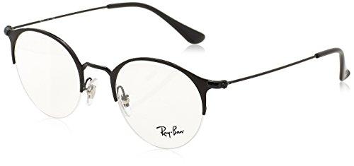 Ray-Ban Unisex-Erwachsene Brillengestell RX3578V, Schwarz Matte Black, 50