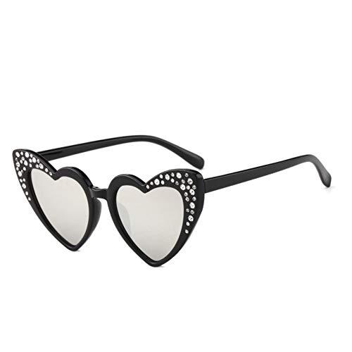 sijiaqi Unisex SonnenbrilleKaleidoskop-Gläser Arbeiten Nette Herz-Sonnenbrille-Kinderliebes-Katzenauge-Gläser-Kinderherz-geformte Brillen um,Style 2
