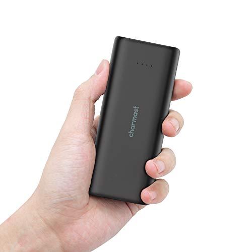 Charmast Powerbank 10000mAh Tragbares Power Bank kompakter Externer Akku Handy kleine Mini Portable Ladegerät Micro USB Typ C mit Taschenlampe für iPhone X/XS/8/7/6 Samsung Huawei Nintendo Switch