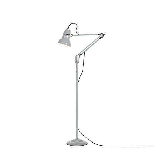 Anglepoise Original 1227 Floor Lamp - Linen White with Grey Cable