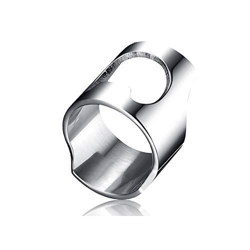 Romote Bier-Öffner-Stab-Werkzeug Kreative Versatile Edelstahl-Finger-Ring-Flaschen-Öffner-Partei-Ring Zubehör Küchenhelfer -
