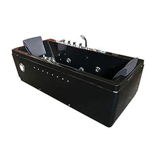 31Dq0sKRggL. SS324  - Bañera hidromasaje Bañera de Esquina Terapia luz de colore bomba doble 180x85 cm
