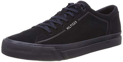 Tommy Hilfiger Herren Corporate Suede Sneaker, Blau (Midnight 403), 44 EU
