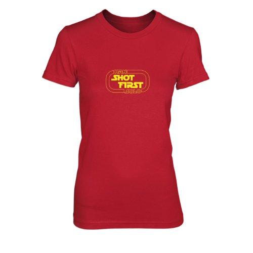 Han Shot First - Damen T-Shirt Rot