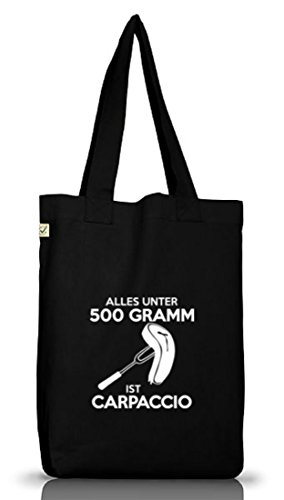 Shirtstreet24, CARPACCIO, Barbecue Grillen Jutebeutel Stoff Tasche Earth Positive (ONE SIZE) Black