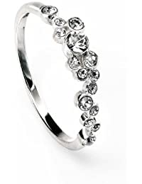 Elements: Very Delicate CZ Ring, Sterling Silver