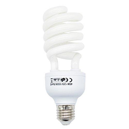 Foto&Tech 45 Watt Tageslicht-Foto-Leuchtstofflampe 5500 K 110 V Weiß für Fotografie und Videostudio-Beleuchtung (1 Pack) 110 Foto