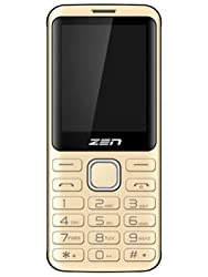 Zen M87 Dual Sim 1.3 MP Camera with LED Flash 1450 mAh Battery - Gold