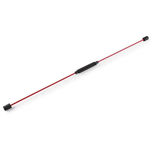 Klarfit FL160EX Flexbar Swing Stick Schwingstab (gegen Rückenschmerzen, Ganzkörpertraining, steigert Koordination und Ausdauer, Fiberglas, Schwunggewichte) rot