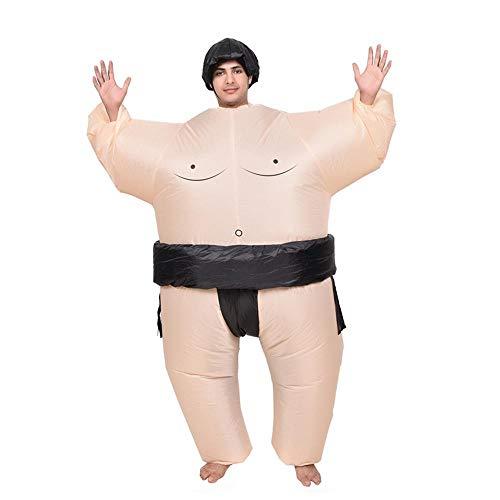 Hamkaw Aufblasbares Kostüm Lustiges Sumo/Kuh Einhorn Aufblasbares Kostüm Cosplay Party Kleid Aufblasen Halloween Kostüm für Erwachsene Kinder ()