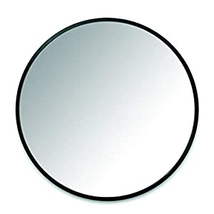 "Umbra Hub 24"" Circular Mirror by Umbra ­­– Round Mirror for Entryways, Washrooms, Living Rooms and More, Black"