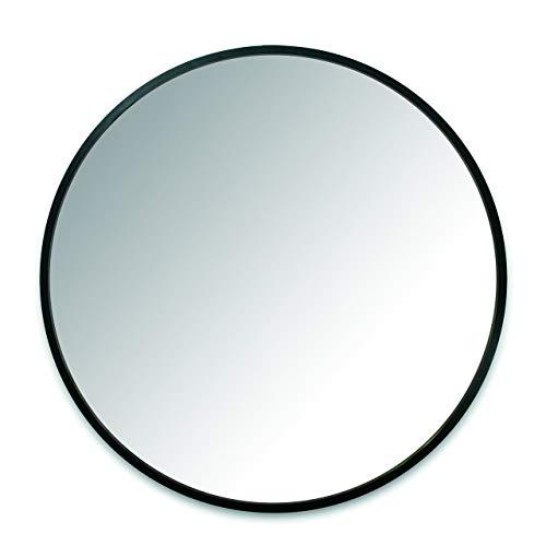 Umbra Hub Espejo, Negro, 61x61x3 cm