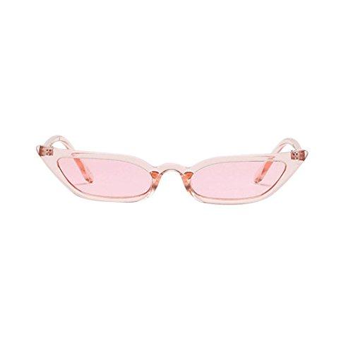 Vovotrade Sonnenbrille Frauen Dame Weinlese Katzenaugen Sonnenbrille Retro kleiner Rahmen UV400 Brillen dünne Gläser Mode Flieger Sonnenbrille Damen für Reise, die Sport fährt (Rosa)