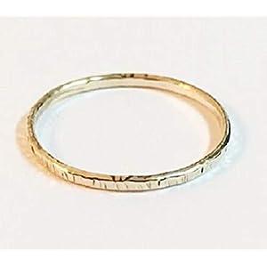 FloweRainboW Dünner Trauring 750 Gold Gehämmert und Texturiert – Hochzeitsring/Ehering/Verlobungsring – Damen/Männer