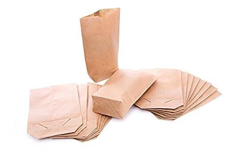 25 Petites papier sachets avec fond (16,5 x 26 cm),