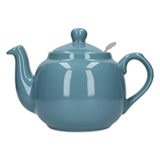London Pottery Farmhouse Loose Leaf Teapot with Infuser, Ceramic, Aqua, 4 Cup (1 Litre)