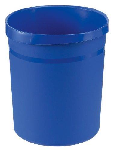 Papierkorb Grip mit Griffmulden, Inhalt 18l, 35cm hoch, blau