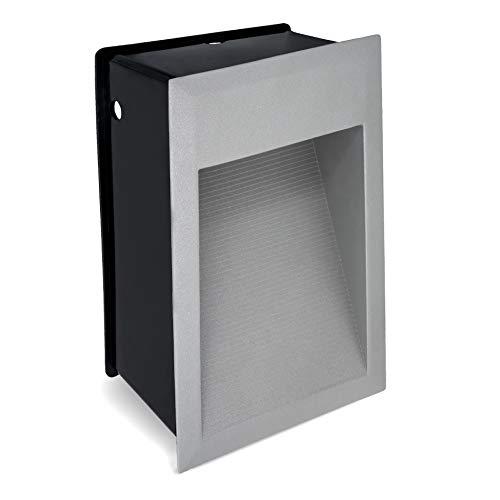 SSC-LUXon Einbaustrahler Treppenleuchte LED MAX J04 für Aussen IP65 - Treppenbeleuchtung 230V Wegeleuchte LED 1,5W warmweiß