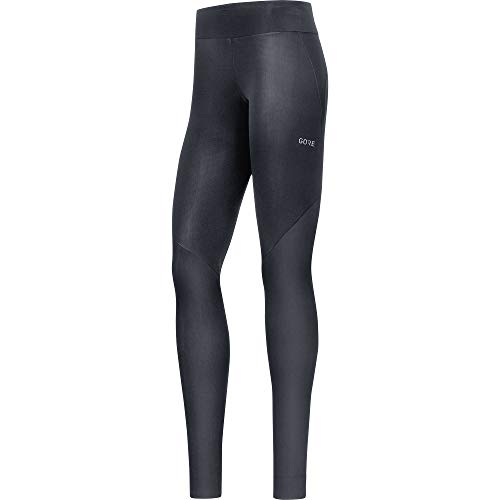 Gore Wear Winddichte, lange Damen Laufhose, R3 Partial GORE WINDSTOPPER Tights, 38, Schwarz, 100290