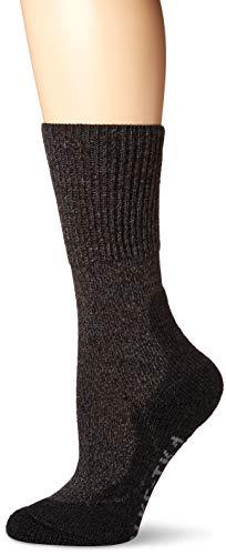 falke wandersocken damen FALKE TK1 Wool Damen Trekkingsocken / Wandersocken - grau, Gr. 39-40, 1 Paar, Merinowolle Seide, mittelstarke Polsterung, wärmende & kühlende Wirkung