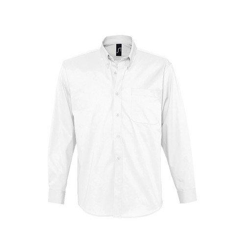 Sols - camicia maniche lunghe 100% cotone - uomo (xxxl) (bianco)