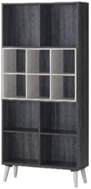 Maison Concept Urban Shelf, Black and Grey - H 1733 x W 300 x D 800 mm