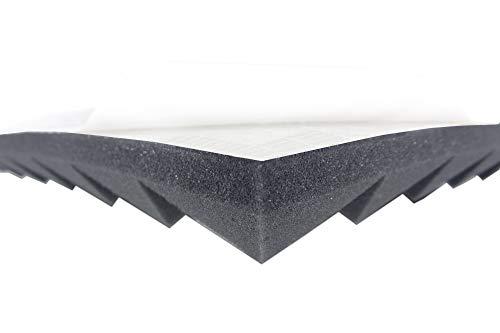Akustikschaumstoff AKUSTIK LINE (Ca.1m²) Pyramidenschaumstoff in 4 cm Selbstklebend Schalldämmmatten zur effektiven Akustik Schall Dämmung